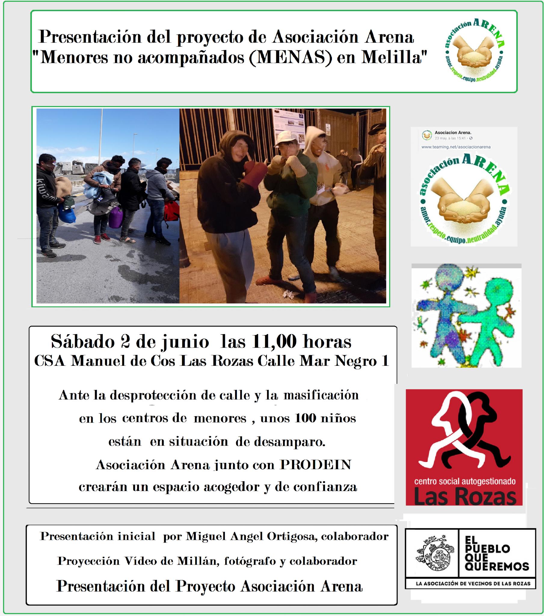 Presentación en Las Rozas del Proyecto Menores NO Acompañados en Melilla -Asociación Arena-
