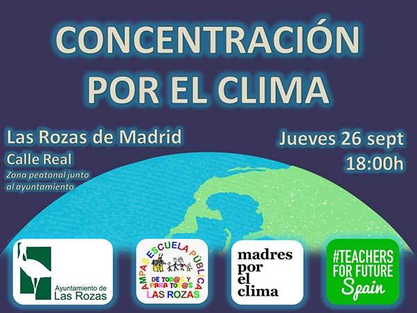 Concentración por el clima en Las Rozas jueves 26 de septiembre
