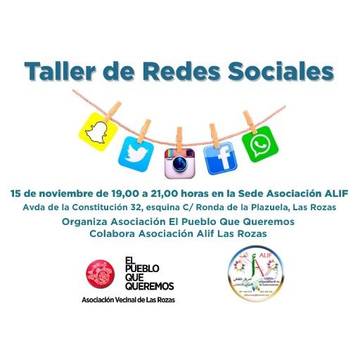 Inscríbete en el Primer Taller Vecinal Participativo de Redes Sociales