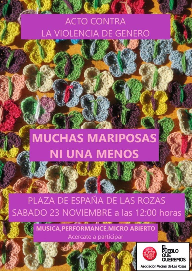 Acto contra la Violencia de Género -sábado 23-N Plaza España Las Rozas-