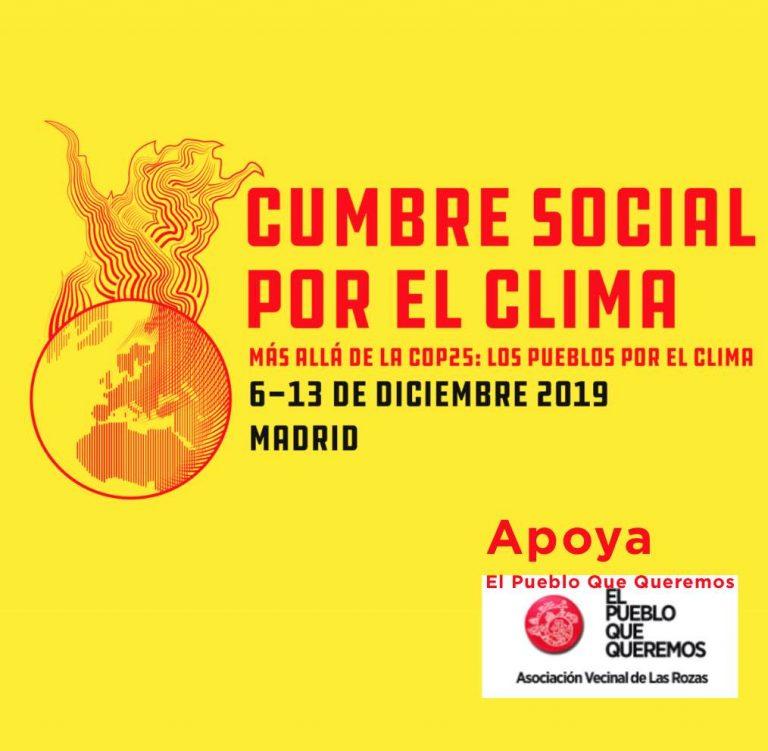 Cumbre Social por El Clima del 6 al 13 de noviembre -actividades-